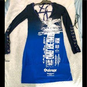 Salvage brand blue/black dress small
